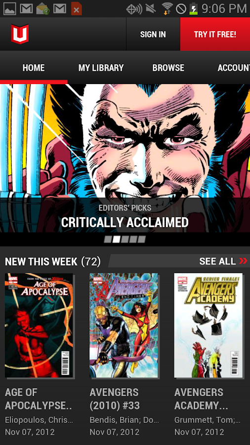 Marvel Unlimited - screenshot