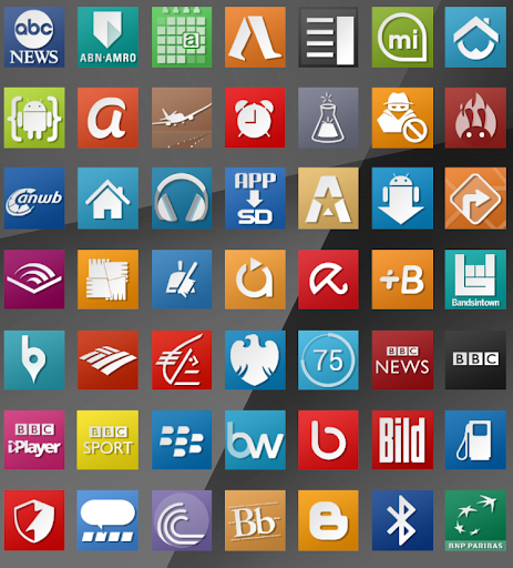 Whilour Square Icon Pack Free