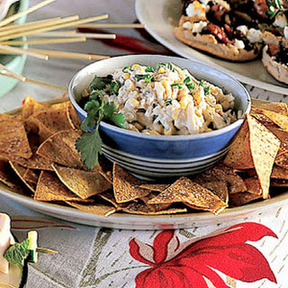 Cosmic Crab Salad with Corn Chips.