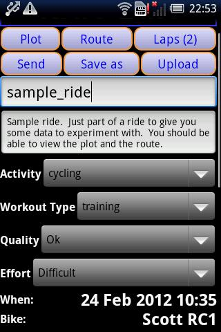 IpBike ANT+™ Bike Computer - screenshot