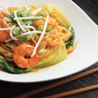 Curried Coconut Noodles With Shrimp