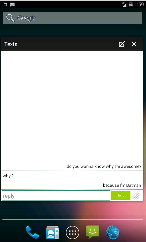 Texts Small App - screenshot