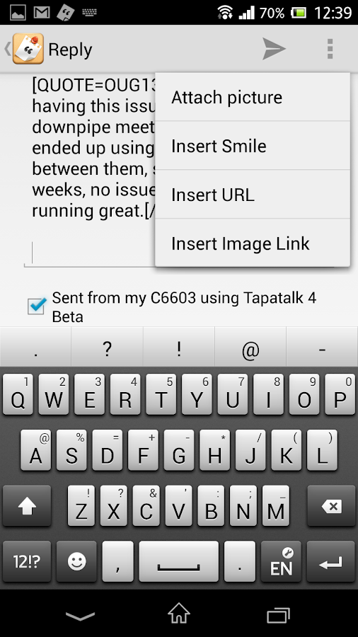 Tapatalk - screenshot