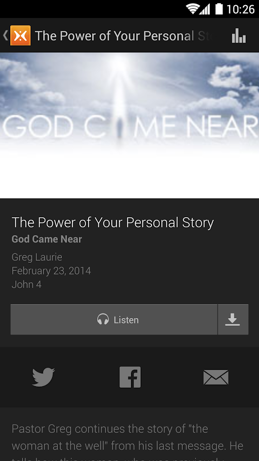 Harvest: Greg Laurie - screenshot