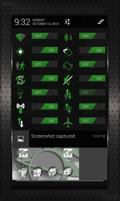 GREEN HEAVY CM10 AOKP CM7+ - screenshot