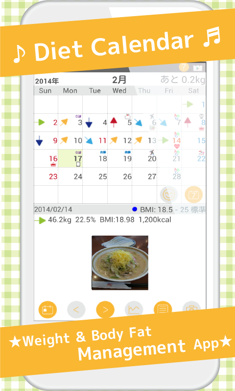 DietCalendar Free(weight)- screenshot