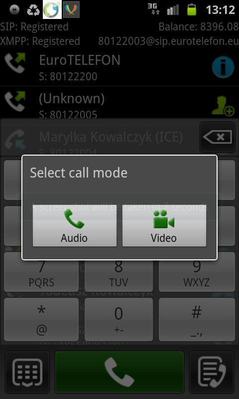 EuroTELEFON Video VoIP- screenshot