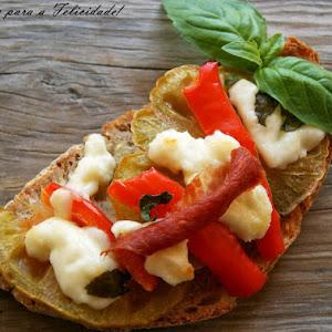 Cured Cheese and Ham Bruschetta