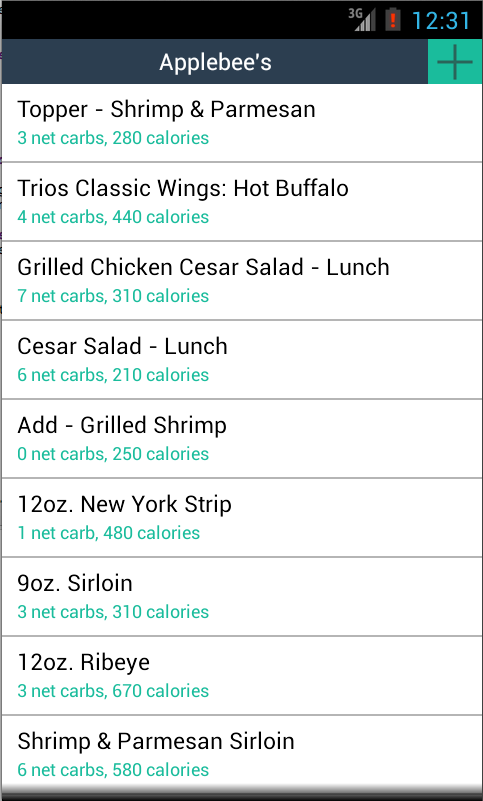 KetoFinder - Low Carb Menus- screenshot
