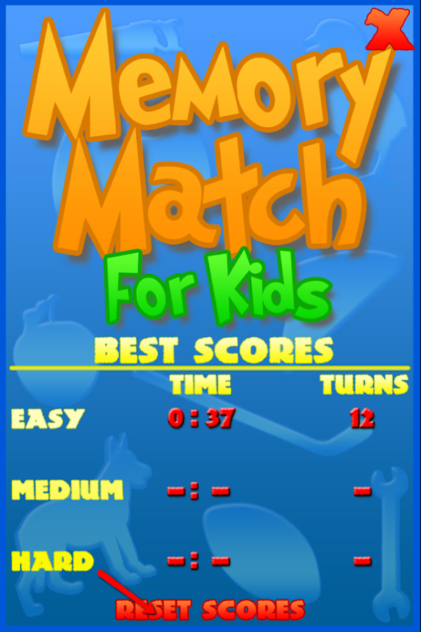Memory Match For Kids - screenshot