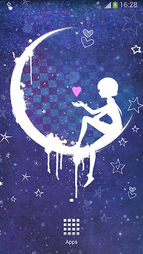 Anna Blue Night Live Wallpaper