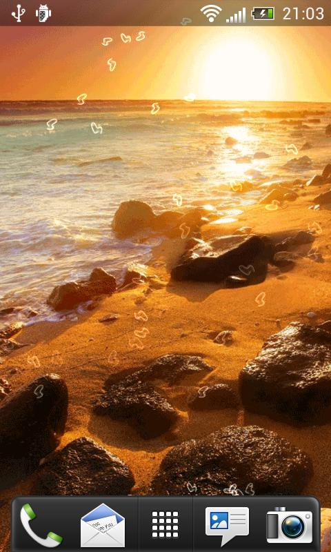 Beach At Night Live Wallpaper - screenshot
