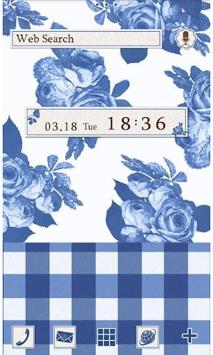 藍色方格玫瑰 for[+]HOME