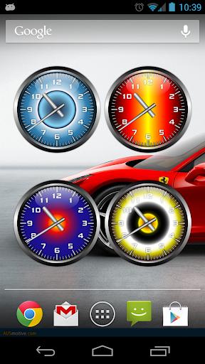 3D Widget Clock set 3