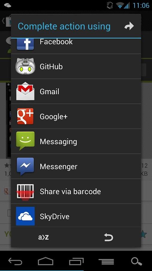 AppChooser- screenshot