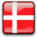 Denmark Flag Clock Widget