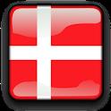 Denmark Flag Clock Widget icon