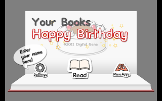 Screenshot of Your Books Happy Birthday