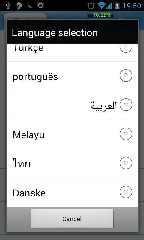GO SMS Pro Hungarian language - screenshot