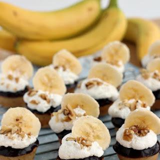 Banana Cream Blondies with Peanut Butter Chocolate Ganache