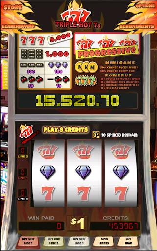 Triple Hot 7s Slot Machine