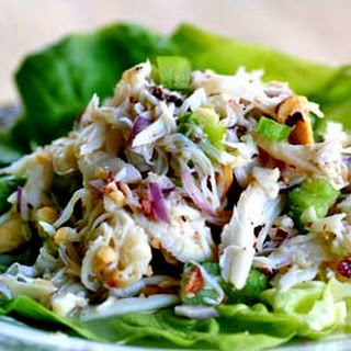 Crab Salad with Pear and Hazelnuts.