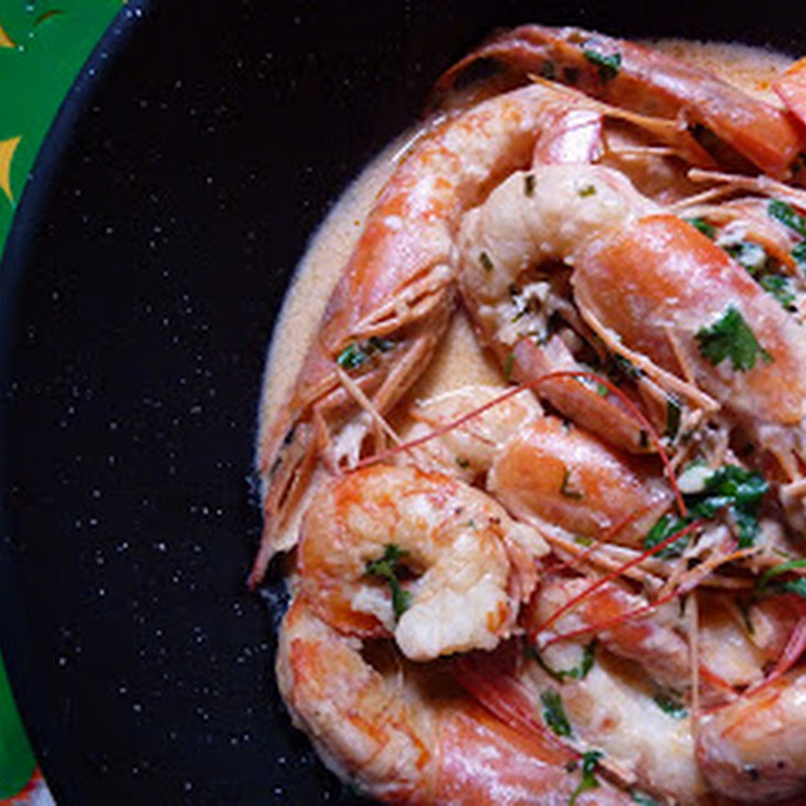 Jumbo Shrimp with Cilantro Cream