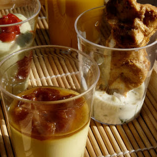 Festive Indian Appetizers in a Glass