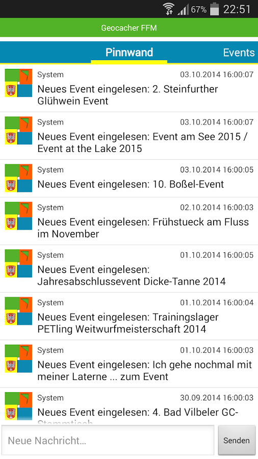 Geocaching Frankfurt gcffm.de- screenshot