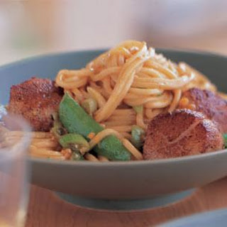 Five-Spice Scallops with Noodles.