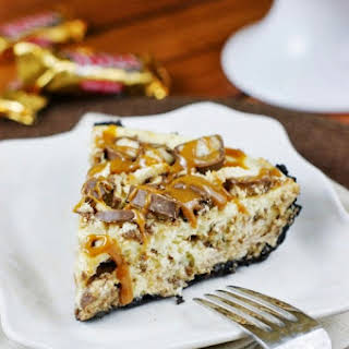 Twix Cheesecake Pie.