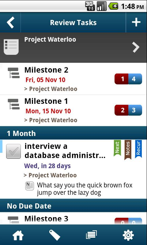 WAToDo! LITE Android ToDoList - screenshot