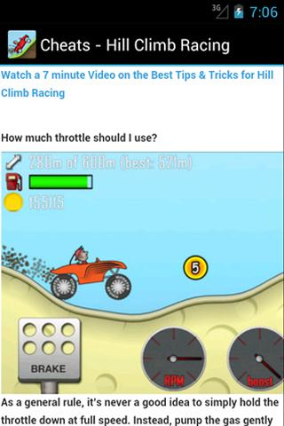 Hill Climb Racing Cheats Guide 1.0 apk