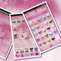 PINK ROSES GO Launcher Theme logo