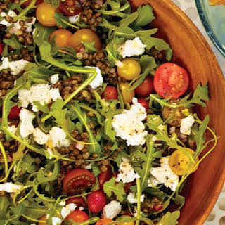 Arugula and Lentil Salad with Goat Cheese.