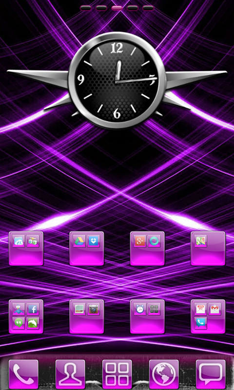 Purple Gloss Theme - screenshot