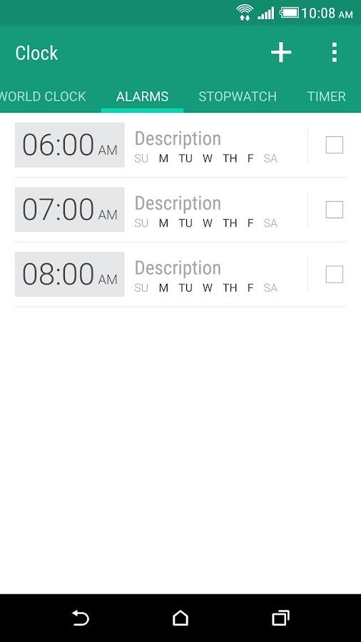 HTC Clock- screenshot