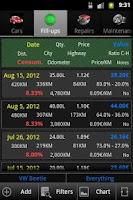 Screenshot of Car Costs fuel consumption