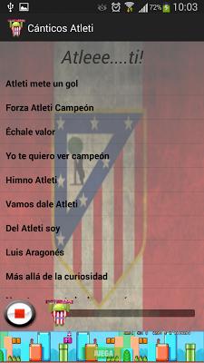 Cánticos Atlético de Madrid - screenshot