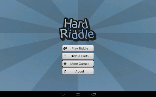 Hard Riddle - Puzzle- screenshot thumbnail