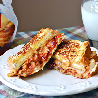 Peanut Butter & Jelly French Toast Sandwich.