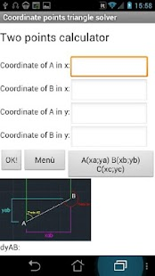 Coordinate triangle solve Lite - screenshot thumbnail