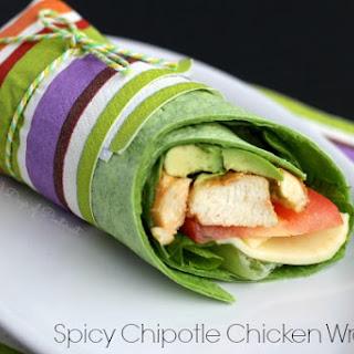 Spicy Chipotle Chicken Wraps.