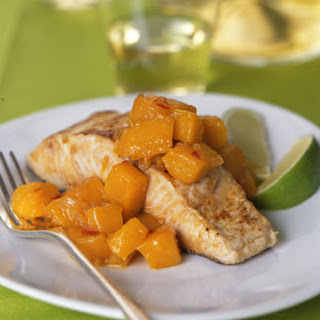 Seared Mahimahi with Hot-and-Sour Mango Relish