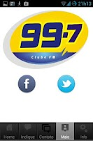 Screenshot of Clube FM (99,7)