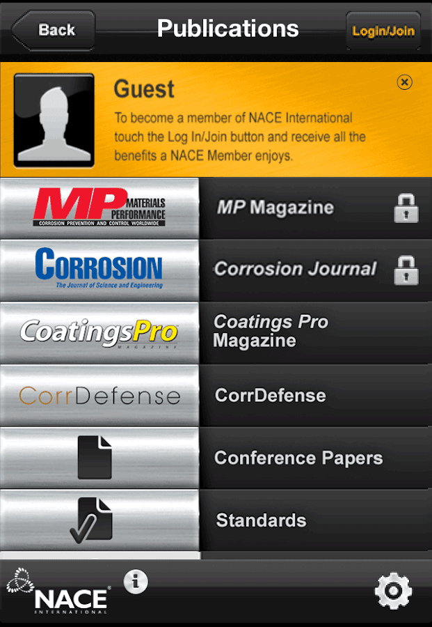 NACE Corrosion App- screenshot