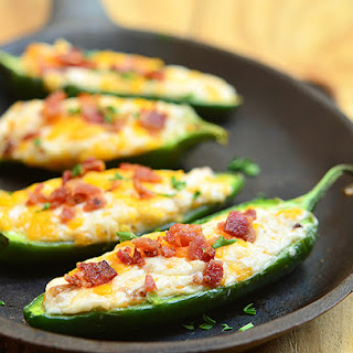 Cheese-Stuffed Jalapeno Poppers.