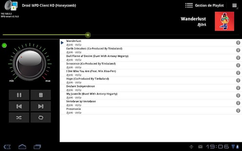 Droid MPD Client HD - screenshot thumbnail