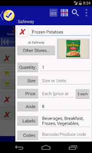 Grocery LIst - rShopping - screenshot thumbnail