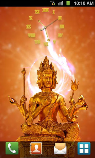 God Brahma Clock LWP
